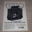 Telex 8 Track Changer Ad, 1970, Rare Ad! 1 pg, Article