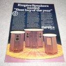 Empire 9500II,7500II,6000II Speaker Ad 1974,article