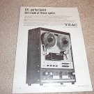 Teac A-6010 Open Reel Deck Ad,1 page,specs,excellent!