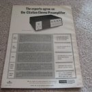 Harman Kardon Citation 11 Preamp Ad from 1971