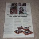 Dual 1229,1218,1216,1214 Turntable Ad,1970,1 pg,Article