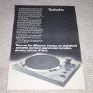 Technics SL-1301,1401 Turntable Ad, 1978, very rare!