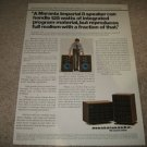 Marantz Imperial 8 Speaker Ad from 1975,color,very nice
