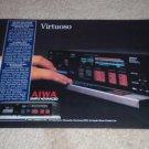 Aiwa AD-F990 Cassette Ad, 1984, Article, Rare Deck Ad!