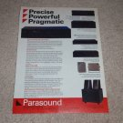 Parasound Ad, P/FET-900 Pre,D/AS-1000II Amp,D/VF-900 CD