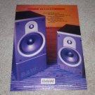 B&W DM-600,610 Monitor Speaker Ad,1993, Beautiful!