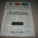 SAE 180 Parametric EQ Ad from 1979,mint,color!