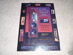 Legacy SPeaker Ad from 1996,entire line!