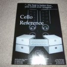 Cello Power Amps and Speaker Ad from 1996,RARE!