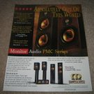 "Monitor Audio PMC Series Ad from 1997 11"" x13"""