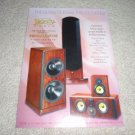 Legacy Speaker Ad from 1996, color, mint!