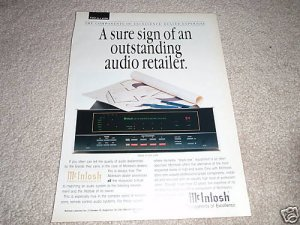 McIntosh CR10 Remote Control System Ad 1996, Article