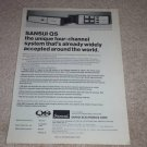 Sansui QS Encoder Ad, 1975,Article, RARE AD!