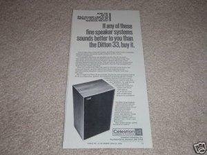 Celestion Ditton 33 Speaker Ad,full specs,Article,Nice!