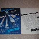 Shure V-15 Type V Ad, 2 pgs, 1982, Article, specs,RARE!