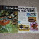Pioneer Ad, 1969, Painted Ad, Rare 2 pgs, SX-440,SA900