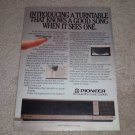 Pioneer PL-88F Turntable Ad, 1983, Article, Drawer type