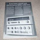 Pioneer TX-1000, SA-1000 Amplifier,Tuner Ad,1971, Specs