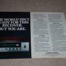 Harman Kardon 75+ Receiver Ad, QUAD, Article, 1975