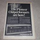 Pioneer SX-440 Receiver Ad, 1969,Article,Specs,RARE!