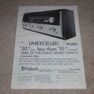 McIntosh MR 67 Tube Tuner Ad, 1965, 1 pg, Rare Tuner Ad
