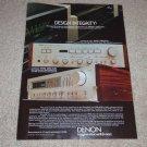 Denon PRA-6000,POA-8000 Amp, PMA-750 Receiver Ad,1982