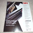Meridian 561 Surround Controller Ad from 1998