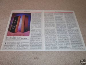 Infinity Kappa 8 Speaker Review,1987,2 pgs,Full Test