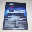 Technics Sl-P8 CD Player Ad, Article, Beautiful! 1984