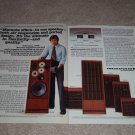 Marantz Speaker Ad,1976,HD-88,77,66,55,44, specs, 2pgs