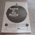 JVC Round Speakers Ad 5303, RARE!, unique speakers!