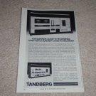 "Tandberg TCD 310 Mk II Cassette Ad, 1979,Article, 6""x9"""