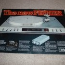 Fisher MT6360 Turntable Ad,2pgs,Beautiful!Computer!