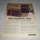 Bose 301 Speaker AD from 1978, color, nice! RARE
