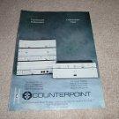 Counterpoint SA-9/11 Pre, SA-4 Amp, Solid 8,Solid 1 Ad