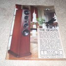 Mission Beasts 767 Speaker Ad from 1990, nice!