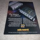 Audio Research LS1 Preamp, SP15 Amp TUBES! Ad from 1990