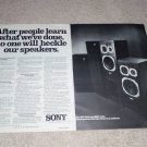 Sony SSU-4000,3000 Speaker Ad, 2 pgs, 1977,Article,Nice