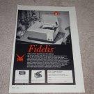 V-M Fidelis 560 Turntable Ad,1954 Rare Record Player Ad
