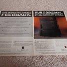 Parasound Power Amp Ad fr 1992, HCA-500,800II,1200,2200