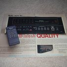 McIntosh C35 System Control Ad from 1989,Rare! 2 pages
