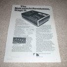 Nakamichi 500 Dual Tracer Cassette Ad from 1975, NICE!