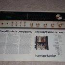 Harman Kardon 730 Receiver Ad, inside,specs,2 pgs,RARE!