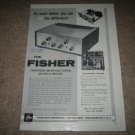 The Fisher X-101 Stereo TUBE Amp Ad from 1959