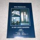 MAS Speaker,Amplifier,Preamp Ad, 1992, High-End! RARE!