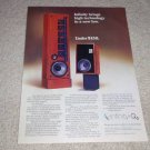 Infinity Qa, Quantum Line Source Speaker Ad,1977, Nice!