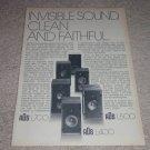 A/D/S Speaker Ad,L700,500,400, 2 way Spr Ad,1975,RARE!