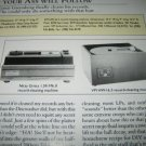 Review- Nitty Gritty,VPI Cleaning Machine 1994, 2 pgs