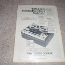 Tandberg 6000x Ad from 1970, open reel