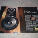 Pioneer ELITE TZ-9 Speaker ad from 1989,2 pages
